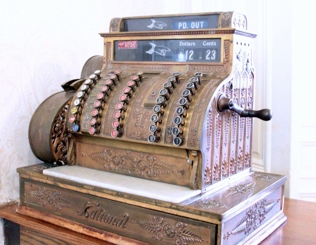 Old Cash Register at St. James Hotel